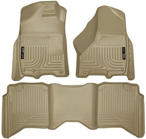 WeatherBeater Floor Liners For Dodge ~ Ram Pickup ~ 2009-2017 ~ Tan ~ Crew Cab Only, Includes Front and Rear Liners (Mats Ram Custom Pickup)