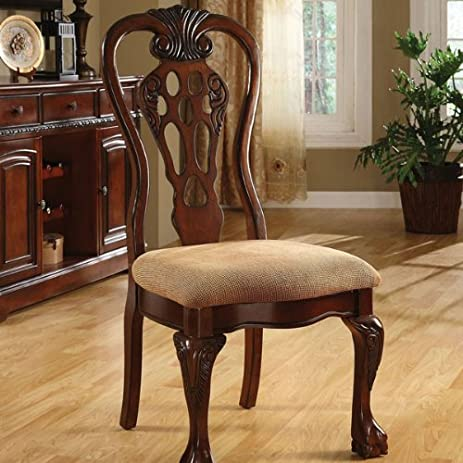 Charmant Georgetown Cherry Finish Formal Dining Chair (Set Of 2)