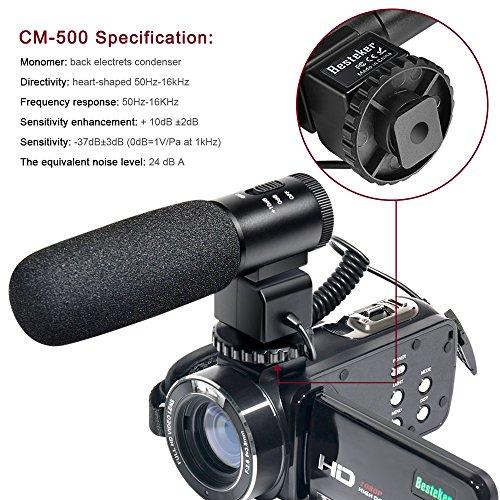 Besteker Wifi Camcorder Full HD 1080P 30FPS Portable Digital Video Camera with External Microphone (HDV-Z20)