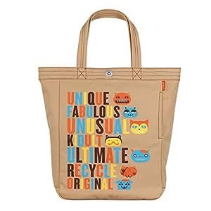 U·Fukuro Letters Pattern Girl's Leisure Canvas Handbag/ Shoulder Bag (Khaki)