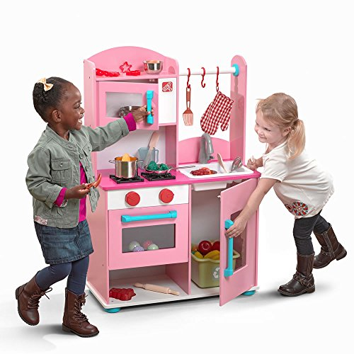 Step2 Midtown Modern Pink Wooden Play Kitchen