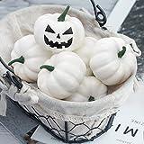 Thanksgiving Artificial White Pumpkins 12 PCS Fake