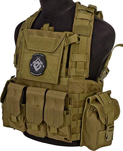 Evike Lancer Tactical CA307 Modular Chest Rig - Tan