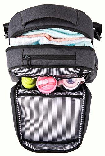 haptim multi function large baby diaper bag backpack w stroller straps insula. Black Bedroom Furniture Sets. Home Design Ideas