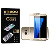 Image of Amuoc HD Ballistic Glass Screen Protector for Samsung Galaxy S7 edge, 2 Pack,Gold