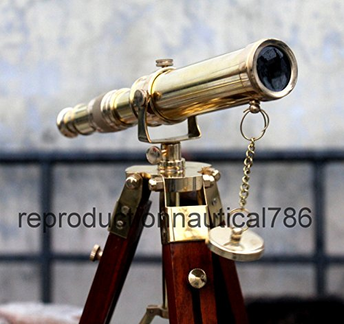 Antique House Desk Telescope With Stand Gift Nautical Balcony Telescope Gift by Antique House