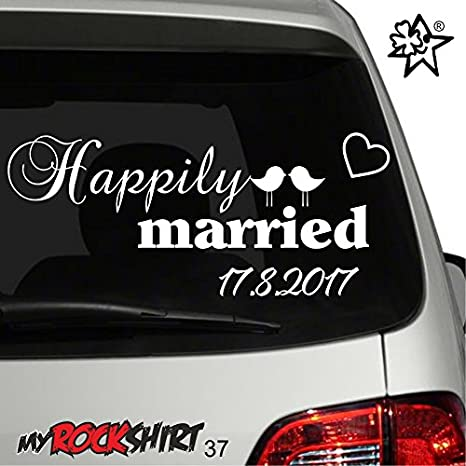 37 Adhesivo Boda Decorativo Married Auto Tipo Just Para 7fmb6vIgYy