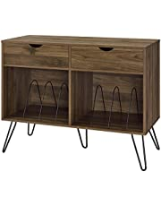 Novogratz Concord Turntable Stand with Drawers, Walnut - Full