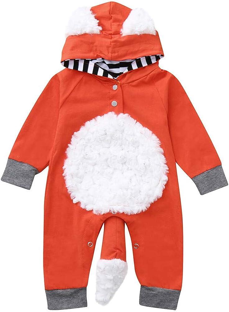 Strampler Baby Jungen M/ädchen 3-18 Monate Einteilige Einteiler Tierdruck Fuchs Babykleidung Neugeborenes Body Wickelbody Overall Babyparty Kleider Kost/üm Schlafanzug Lange
