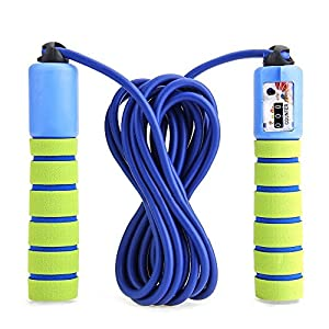 Jump Rope for Kids with Counter 2 Pack- Adjustable Speed Jump Rope Lightweight Exercise Fitness-2PACK-Blue