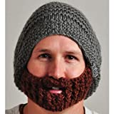 Beardo Original Detachable Beard Hat, Gray Brown