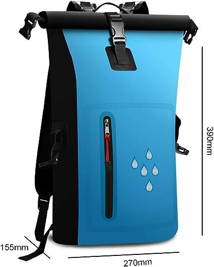 SCHITEC Mochila Impermeable para secar, 25 L, Resistente al Agua, con Cierre Enrollable, con IPX8, Resistente al Agua, para navegar, Playa, Kayak,