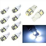 20PCS T10 5050 5SMD White LED Car Light Wedge Lamp Bulbs Super Bright DC12V