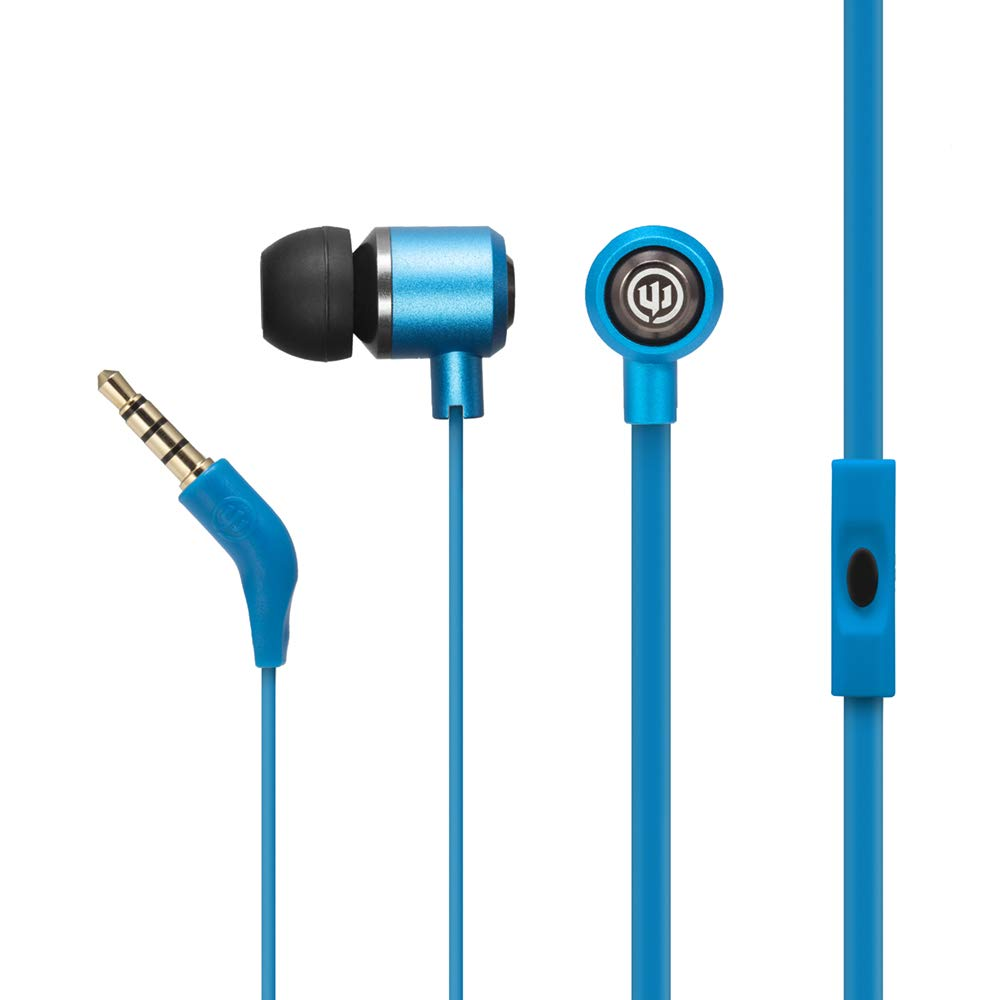 Wicked Audio Panic Earbuds Carcasa de metal Bajo mejorado (Bluejay)
