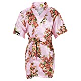 Mr & Mrs Right Kids' Satin Kimono Robe For Spa Party Wedding Birthday