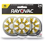 RAYOVAC Size 10 Hearing Aid Batteries, 24-Pack