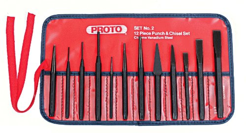 Stanley Proto J2S2 Proto Punch and Chisel Set, 12-Piece