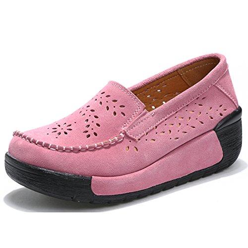 Loafers Casuel Confort suo Suède 1 Chaussures Eu 36 rose Mocassins Femmes Z xIwq7nR0I