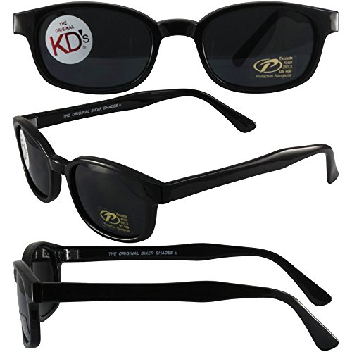 The Original X-KD's Biker Shades By PCSUN 20% Larger Black Frames Grey - Biker Shades