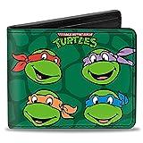ninja snapback - Buckle-Down Men's Wallet Classic Teenage Mutant Ninja Turtles Group Faces + Po Accessory, -Multi, One Size