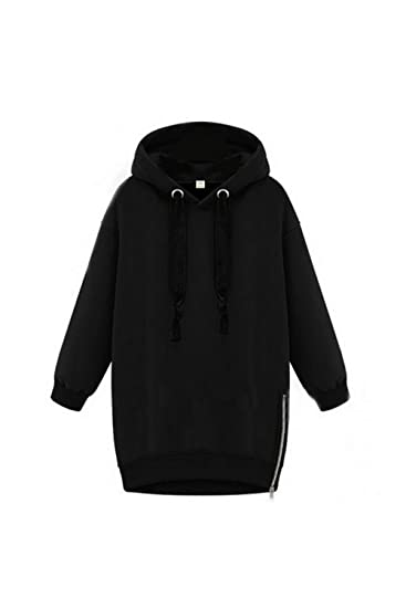 7ad78557a3e Suvotimo Women Casual Pullover Fleece Side Zipper Hoodie Sweater  Sweatshirts Tops at Amazon Women s Clothing store