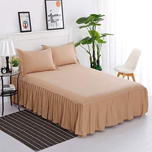 単色 綿 ダブル バランス シート ベッドスカートラップ,伸縮性のある ベース フリルのバランス ラップ ベッドスカート プリーツベース-j 180x200x40cm(71x79x16inch)