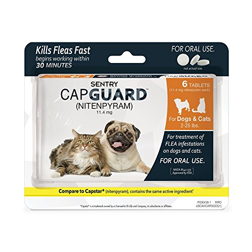 (SENTRY Capguard (nitenpyram) Oral Flea Control Medication, 2-25 lbs, 6 count)