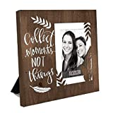 ReLive Decorative Expressions Laser Cut Wood Picture Frames (Collect Moments, 4x6)