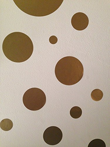 Create A Mural Gold Polka Dot Decals product image