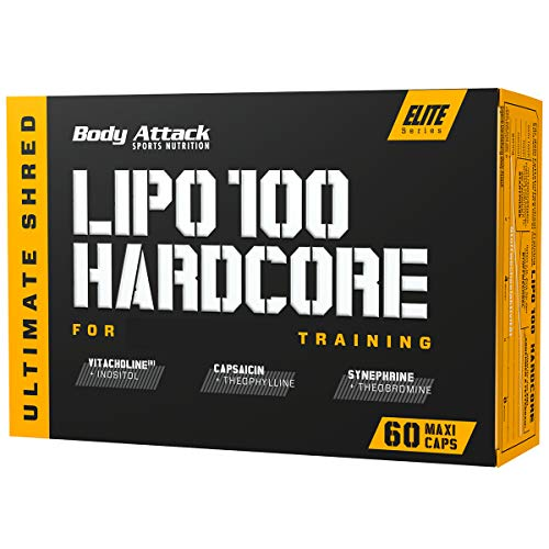 Body Attack Lipo 100 Hardcore, 1er Pack (1 x 60 Kapseln)