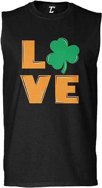 St Patricks Day Mens Sleeveless Shirt Tcombo Irish Shamrock
