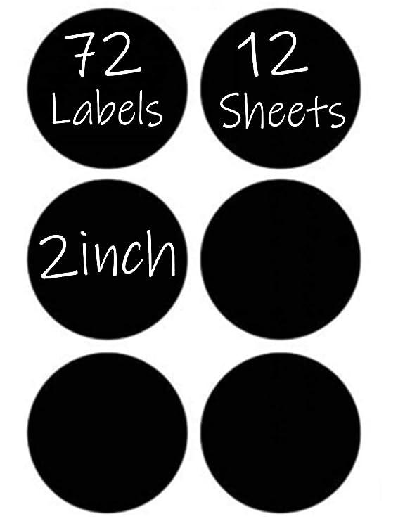 30mm Diameter 30 Small Circular RE-WRITABLE Chalkboard Blackboard Labels Herb /& Spice Jar Stickers