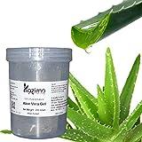 KAZIMA Aloe Vera Gel Raw - 100% Pure Natural Gel - Ideal for Skin Treatment, Face, Acne Scars, Hair Treatment, Moisturizer & Dark Circles (250 Gram)