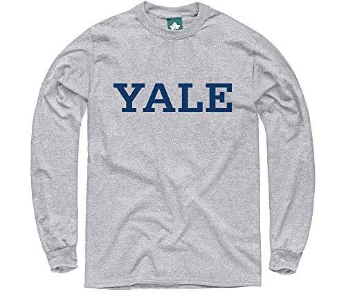 Ivysport Yale University Long-Sleeve T-Shirt, Classic, Grey, ()