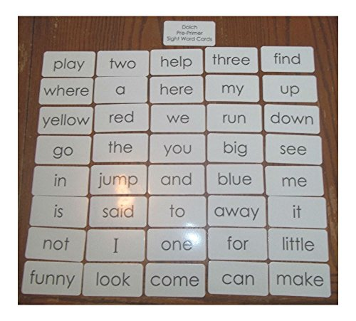 Dolch Pre-Primer sight word flash cards. Preschool and PreK educational phonics. Newest!