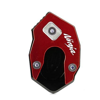 Kickstand Stand Extension Enlarger Pad for Kawasaki NINJA 650 ER6N ER6F 11-14 CNC Aluminum Motorcycle Kickstand Foot Side Stand Extension Enlarger Pad ...