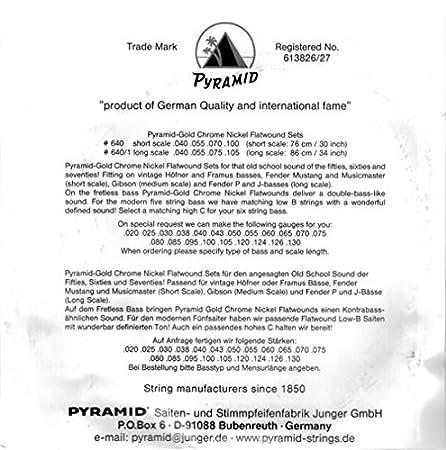 Pyramid Gold flatwound 640/1 bajo eléctrico Cuerdas: Amazon.es: Instrumentos musicales