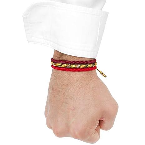 91e734c482cc Pulseras Tibetanas Set de 3 Para Hombre o Mujer Hechas a Mano de Hilo Rojo  Tibetano Amuleto de Proteccion Pulseras de la Suerte Budhista Brazalete  Yoga Zen ...
