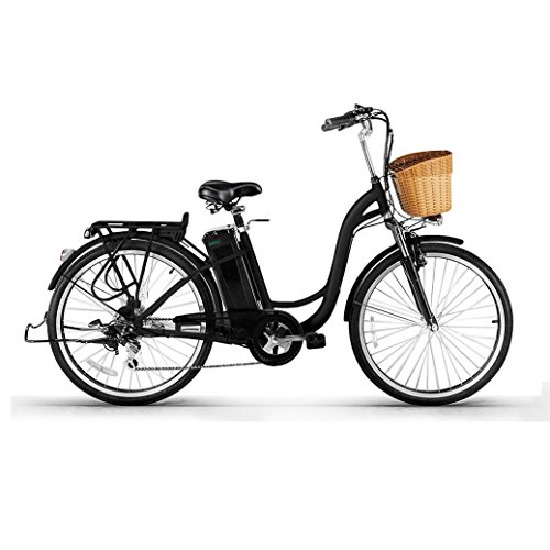 Women Electric Bike - Jushye 26-inch Camel Male Electric Bicycles with a Basket, Low-Carbon Environmental Protection, Superb Technology Electric Bikes For Christmas Gift(Black),Ship Form US