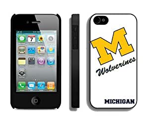 Hot Sell White Case for Apple Iphone 4 4s Cover Best Ncaa Cellphone Accessories for Guys