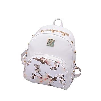 d13f60e0144bd LeeY Damen Mini Rucksack Leder mit Reißverschluss modische kleine Daypack  Schultasche Mädchen Wasserdicht Rucksack Handtasche Schultertasche