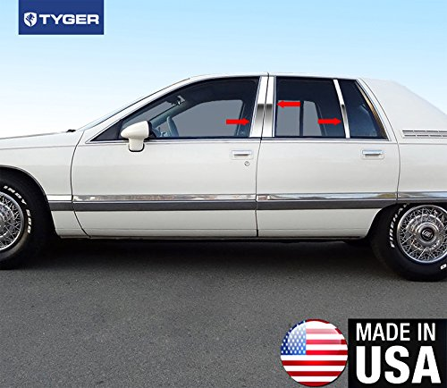 Made in USA! Works With 91-96 Buick Roadmaster Sedan 6PC Stainless Steel Chrome Pillar Post Trim