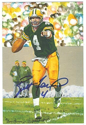 - Autographed Brett Favre Green Bay Packers Goal Line Art Card w/COA