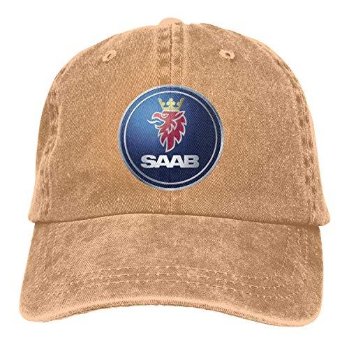 Kinggo Personalized General Motors Saab Logo Cool Hat Cap for Mens Natural