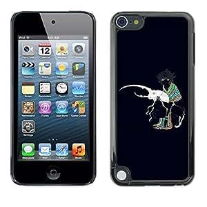 Paccase / SLIM PC / Aliminium Casa Carcasa Funda Case Cover para - Popular Bug Beetle Love White Art Colrful Girl Scarf - Apple iPod Touch 5