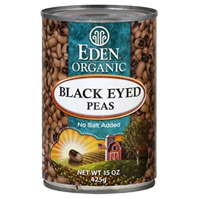 Eden Organic Black Eyed Peas 15.0 OZ(Pack of 3)