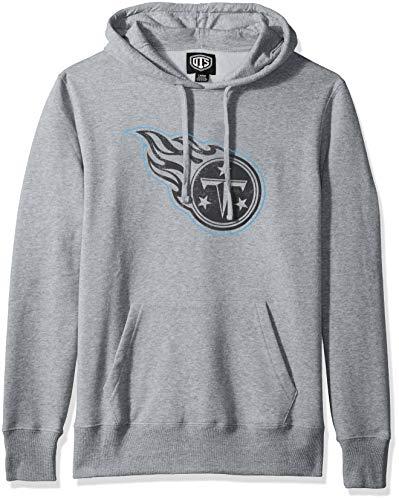 NFL Tennessee Titans Male OTS Bravo Fleece Hoodie Distressed, Slate Grey, Medium