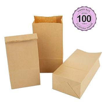 100 bolsas de papel kraft pequeñas West Point para hornear ...