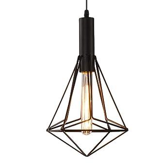 Lámpara de techo colgante para interiores, diseño geométrico ...