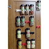 DecoBros 30 Spice Gripper Clips Strips Cabinet Holder - 6 Strips, Holds 30 Jars